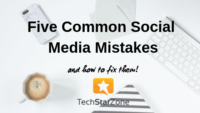 common social media mistakes twitter Pinterest Facebook Instagram