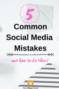 fix common social media mistakes