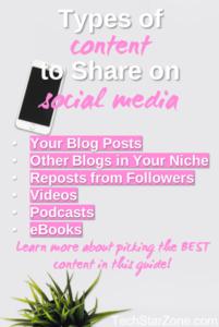 social media content types