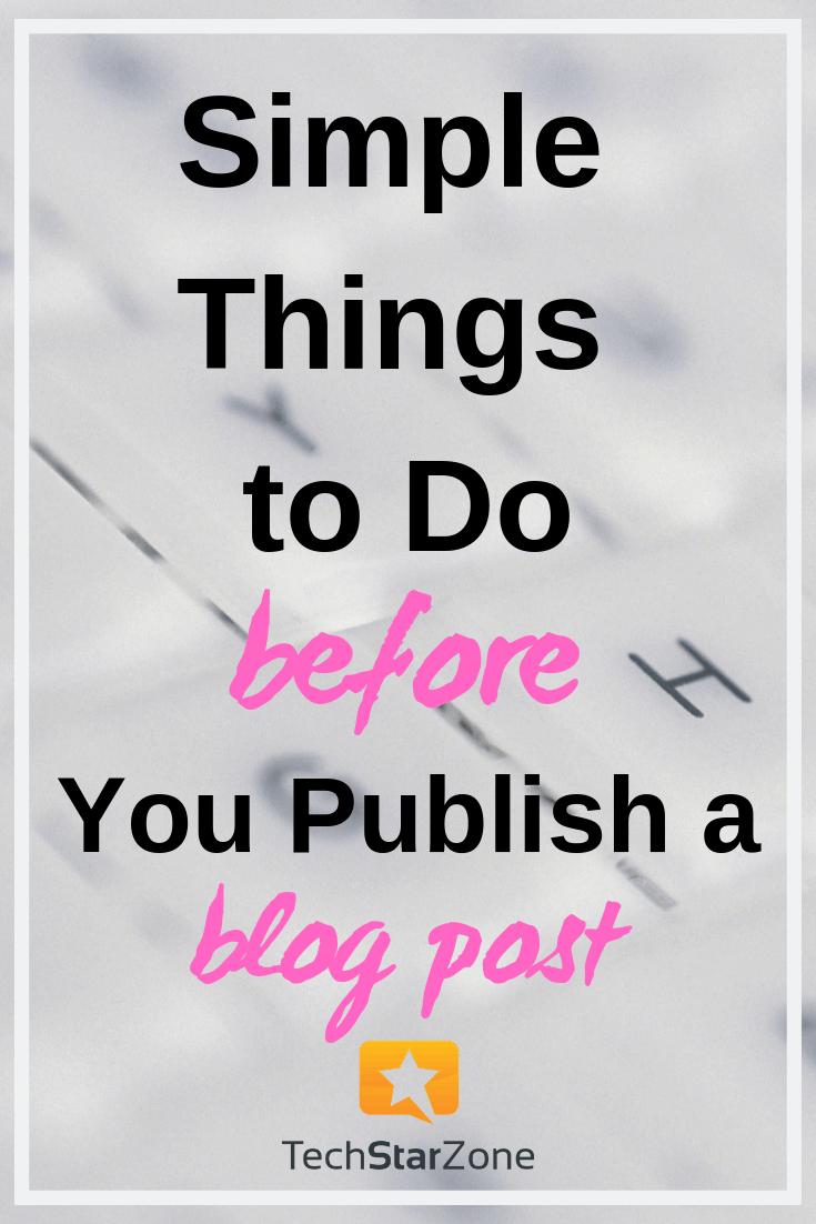 before publish blog post social media content productivity
