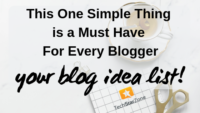 blog idea list for blog writing