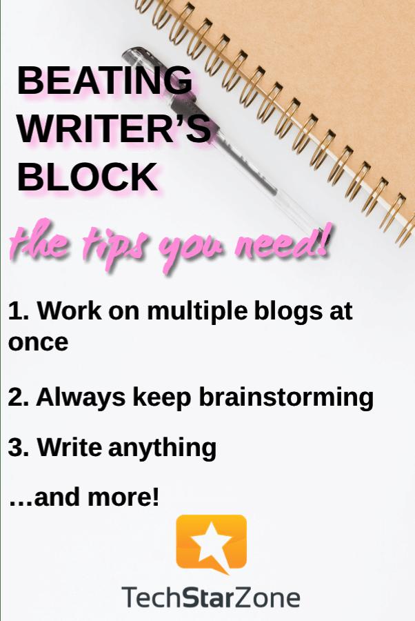 blog writing beat writers block productivity