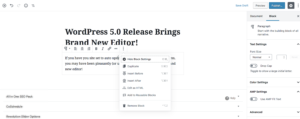 new WordPress block editor