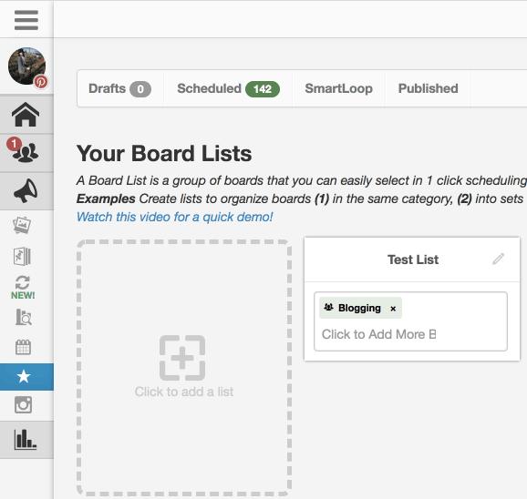 create tailwind board list Pinterest group board easy