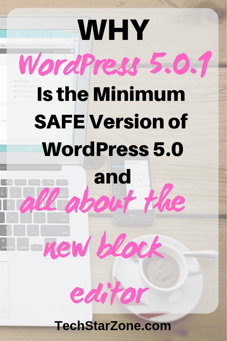 WordPress 5.0.1 security release patch updates block editor
