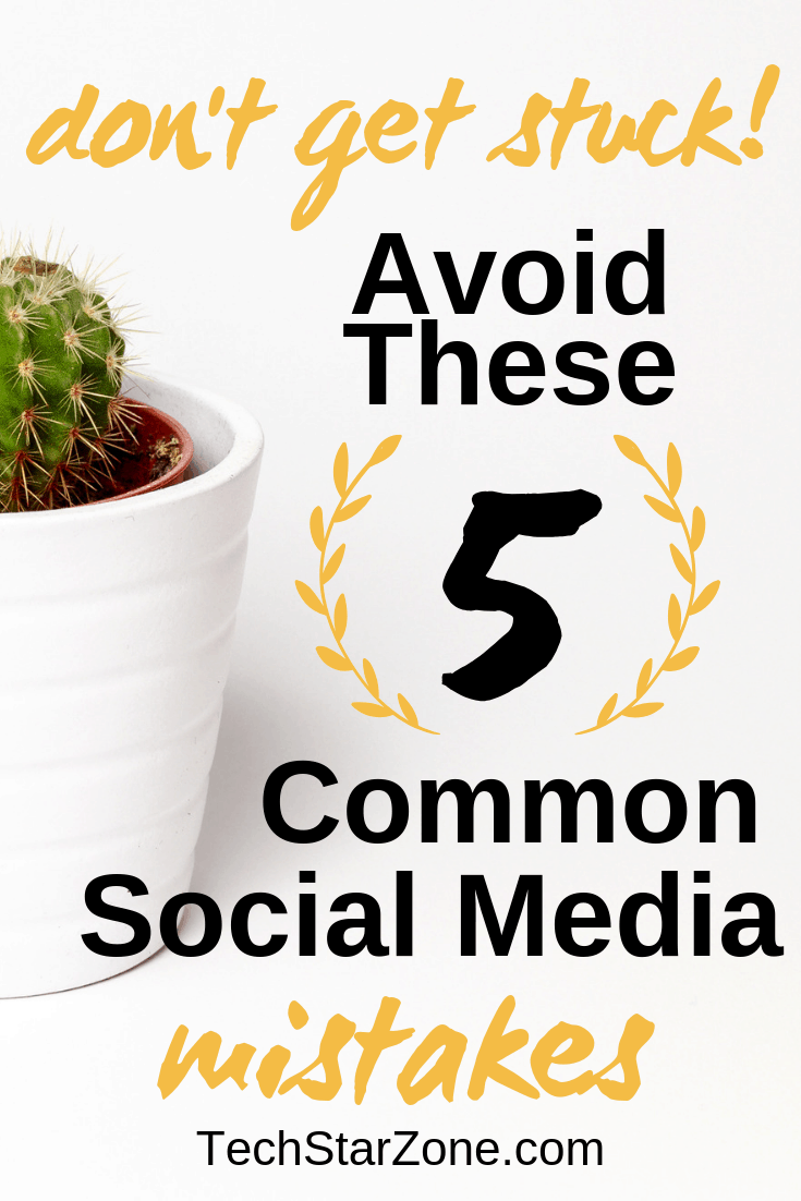 common social media mistake fix avoid how to blog