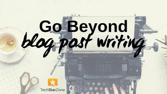 blog post writing blogger productivity