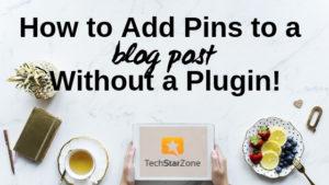 put pinterest pins on blog post easy no wordpress plugin