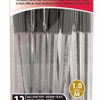 Pentel R.S.V.P. Ball Point Pen, Medium Line, Black Ink, 12 Pack