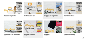 what to name Pinterest boards for business