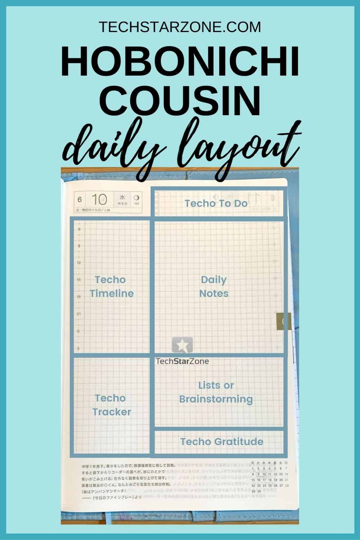 hobonichi cousin daily layout