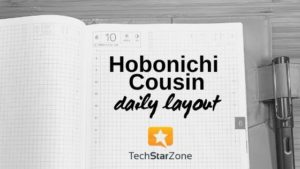 hobonichi cousin layout daily