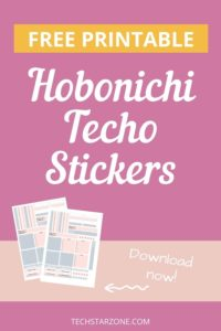 free printable Hobonichi techo stickers
