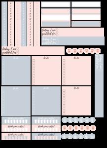 techstarzone Hobonichi Techo printable planner stickers
