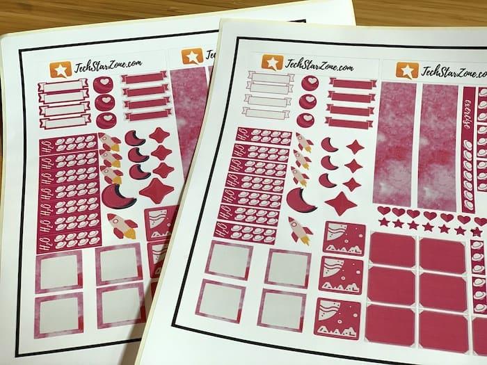 bleed vs no bleed Cricut planner stickers